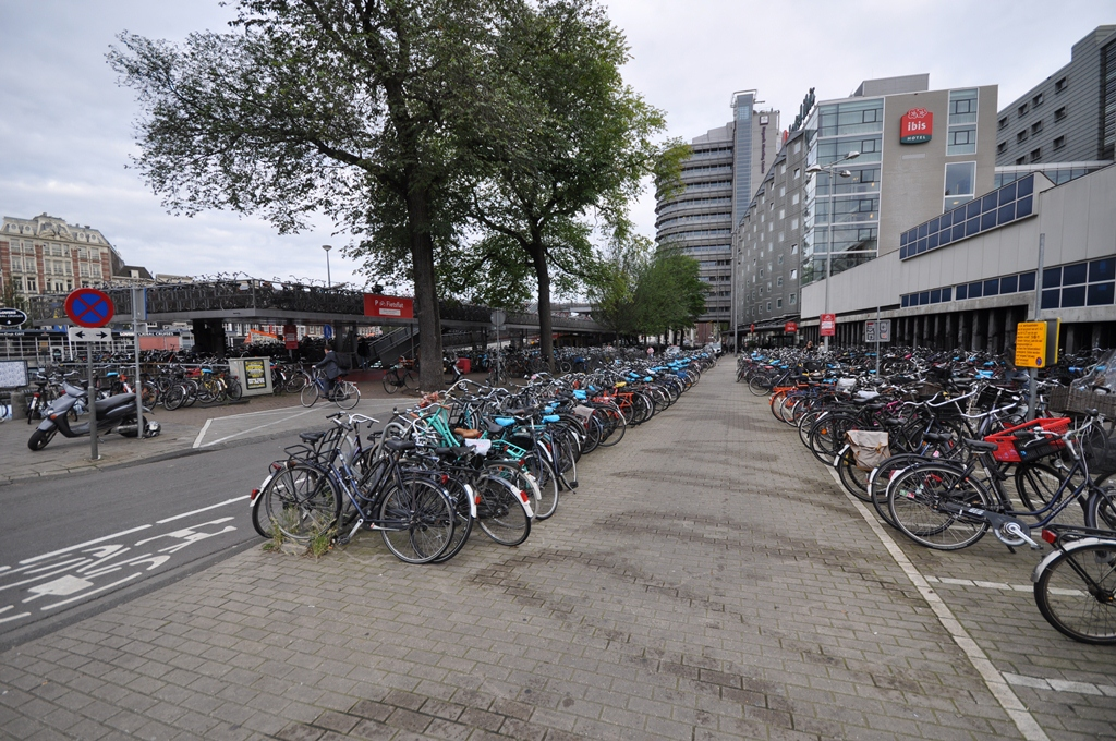 Bicycle Parking Garage and Ibis Hotel