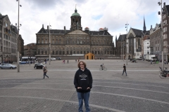 Kevin in the Dam Square in front of the Royal Palace in Amsterdam
