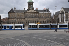 The Tram in The Dam Square