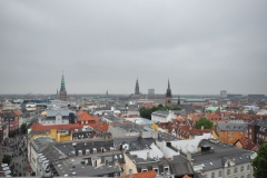 Copenhagen view from The Round Tower
