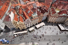 Looking down from the top of the Astronomical Clock