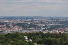 View from the Petrin Hill & Observation Tower in Prague 1