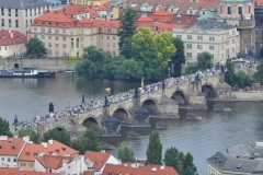 View from the Petrin Hill & Observation Tower in Prague 10