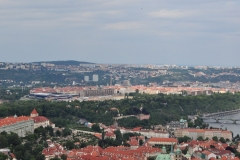 View from the Petrin Hill & Observation Tower in Prague 11