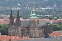 View from the Petrin Hill & Observation Tower in Prague 12