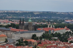 View from the Petrin Hill & Observation Tower in Prague 13