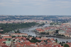 View from the Petrin Hill & Observation Tower in Prague 14