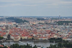 View from the Petrin Hill & Observation Tower in Prague 15