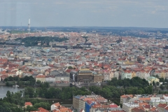 View from the Petrin Hill & Observation Tower in Prague 4