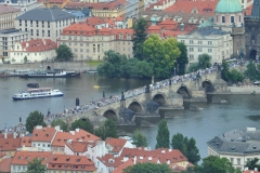 View from the Petrin Hill & Observation Tower in Prague 5