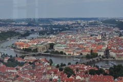 View from the Petrin Hill & Observation Tower in Prague 6