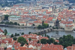 View from the Petrin Hill & Observation Tower in Prague 7