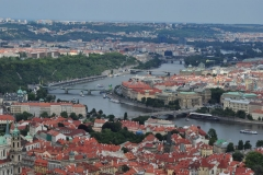 View from the Petrin Hill & Observation Tower in Prague 8