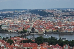 View from the Petrin Hill & Observation Tower in Prague 9