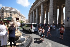 Vatican city water fountain