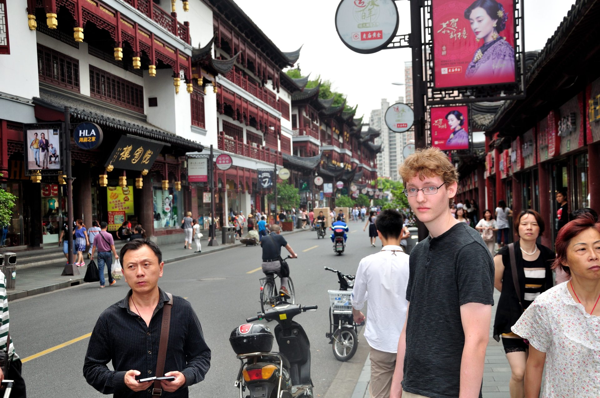 Kevin in Old Town Shanghai